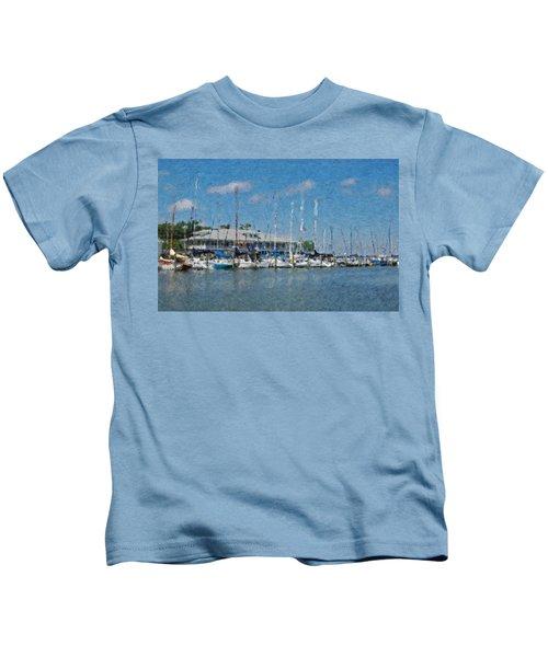 Fairhope Yacht Club Impression Kids T-Shirt
