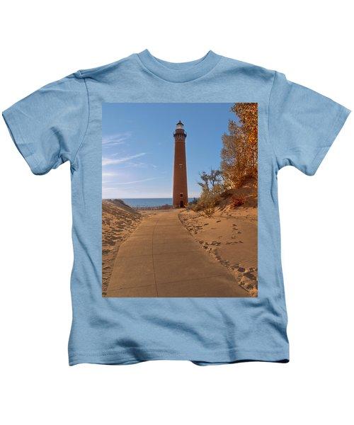 Fall At Little Point Sable Light Kids T-Shirt