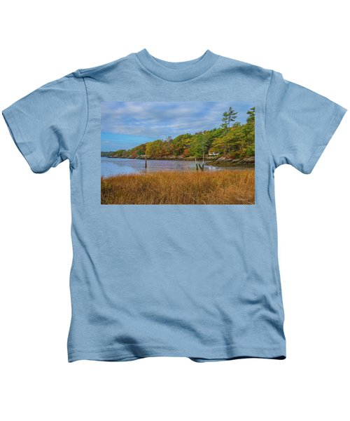 Fall Colors In Edgecomb Too Kids T-Shirt