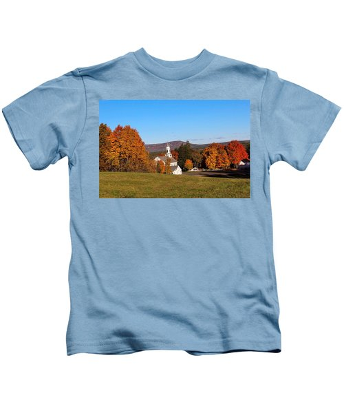 Fall Mountain View Kids T-Shirt