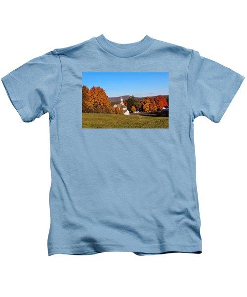 Fall Mountain View Kids T-Shirt