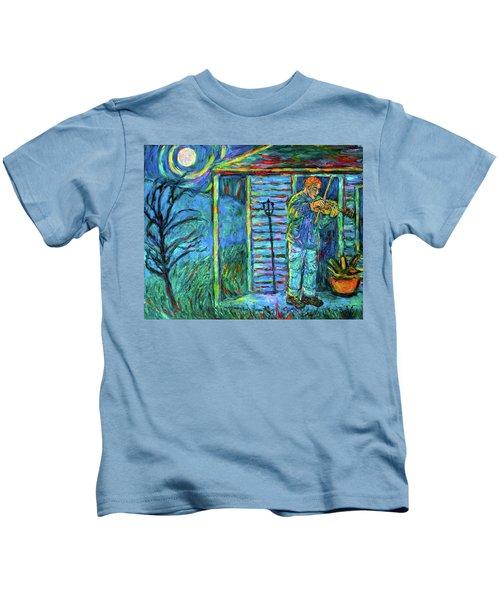 Fiddling At Midnight's Farm House Kids T-Shirt