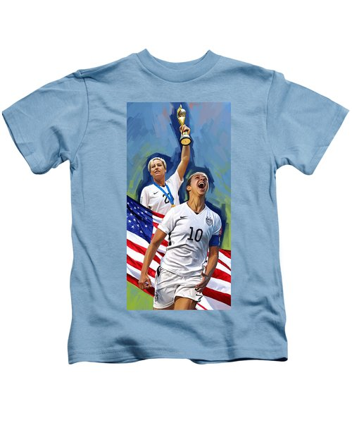 Fifa World Cup U.s Women Soccer Carli Lloyd Abby Wambach Artwork Kids T-Shirt