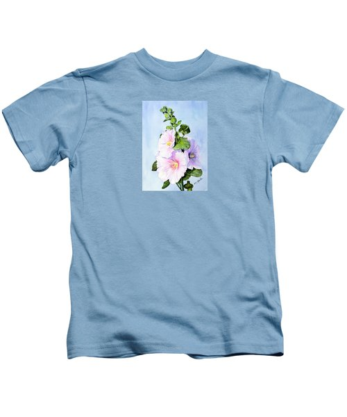 Finally Hollyhocks Kids T-Shirt