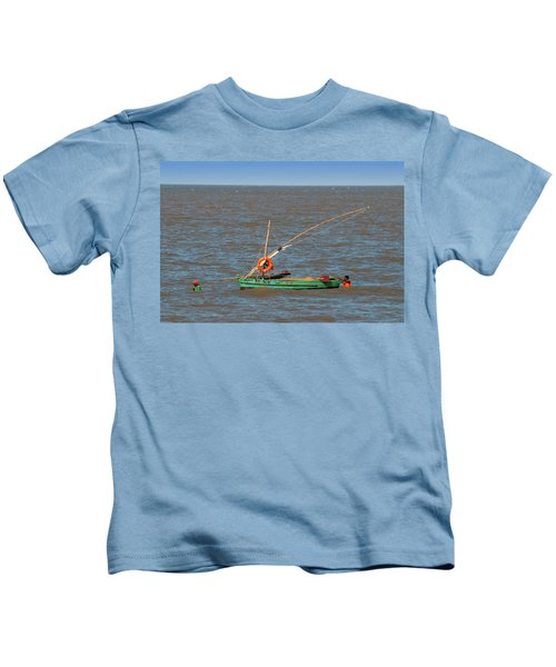 Fishermen Pulling Boat Kids T-Shirt