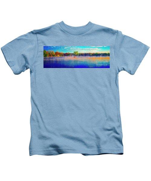 Fishing On Crystal Lake, Il., Sport, Fall Kids T-Shirt