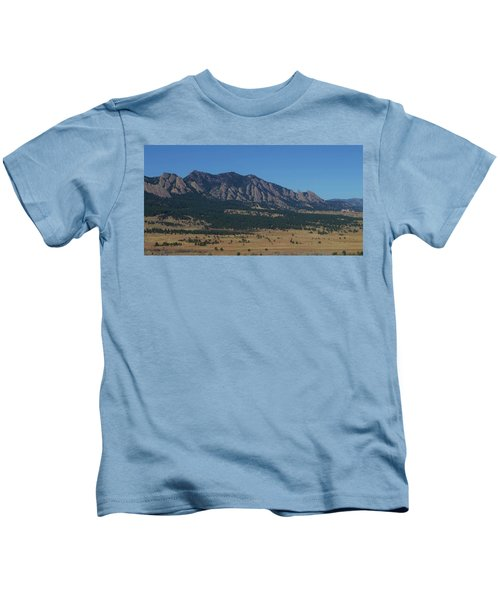 Flatirons Of Boulder Kids T-Shirt