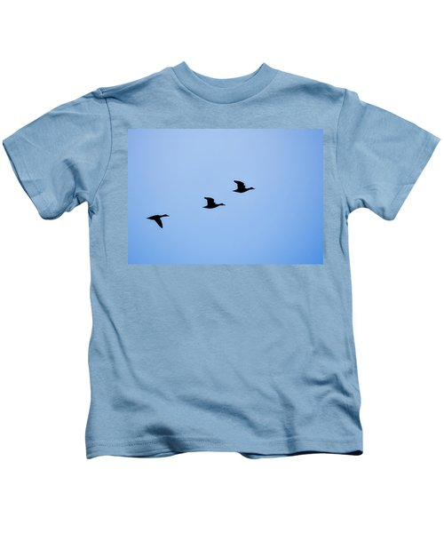 Flight Of Three Kids T-Shirt