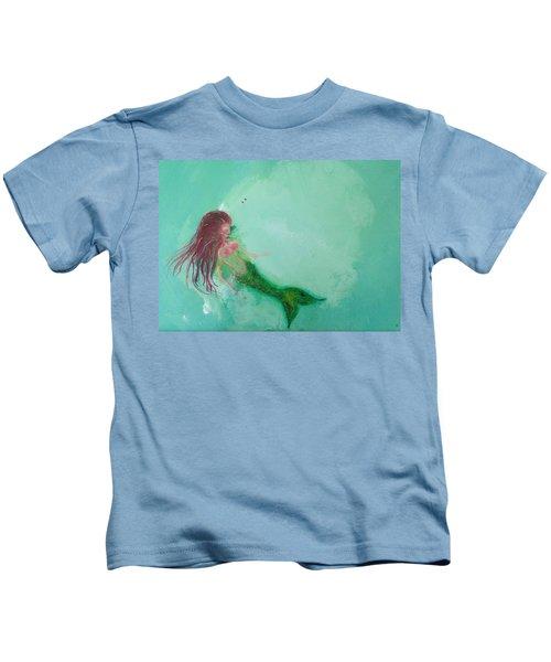 Floaty Mermaid Kids T-Shirt