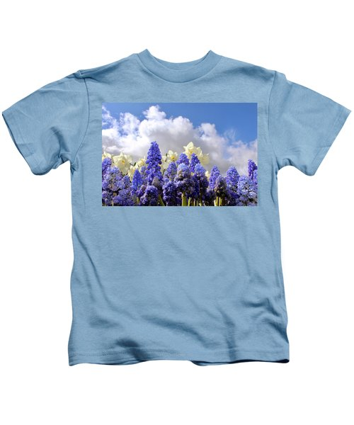 Flowers And Sky Kids T-Shirt