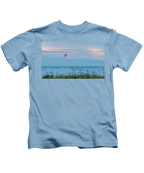 Flying High Over The Pacific Kids T-Shirt
