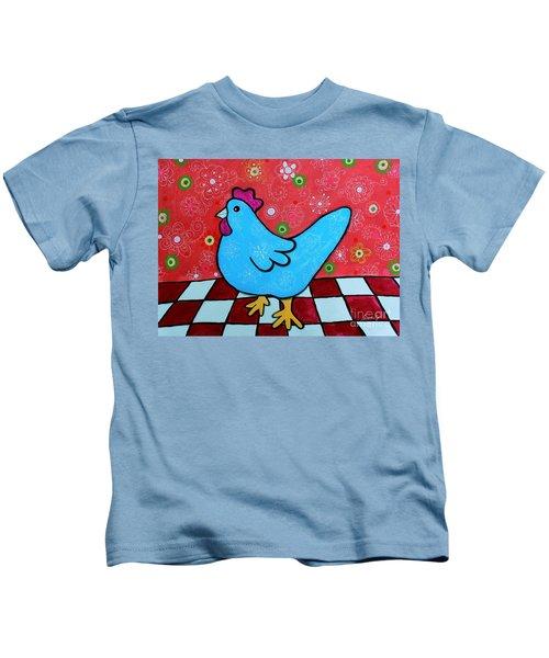 Folk Art Rooster Kids T-Shirt