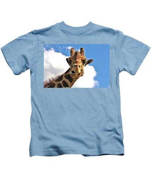 Funny Face Giraffe Kids T-Shirt