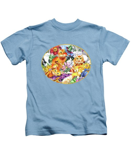 Garden Party Kids T-Shirt by Shelley Wallace Ylst