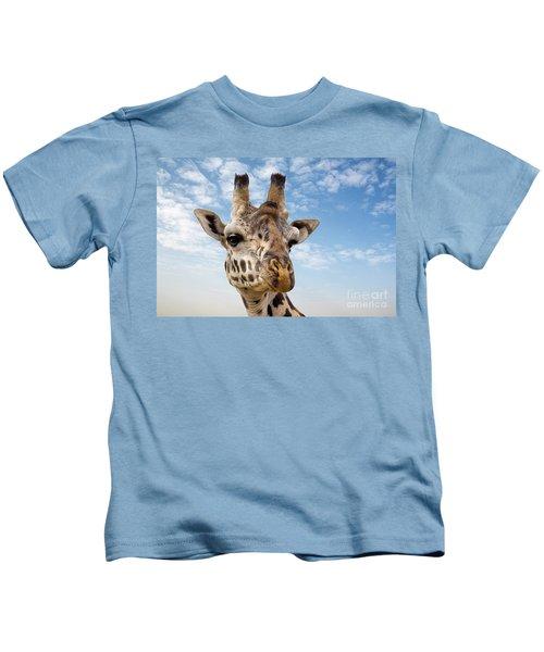 Giraffe In The Masai Mara Kids T-Shirt