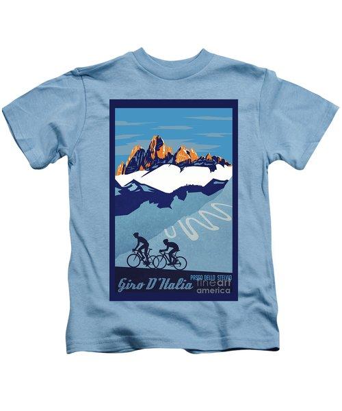 Giro D'italia Cycling Poster Kids T-Shirt