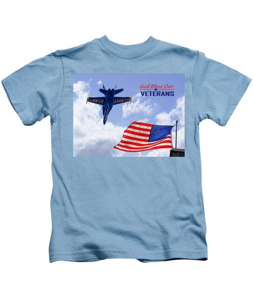 God Bless Our Veterans Kids T-Shirt