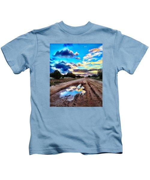 Golden Hour Pool Kids T-Shirt