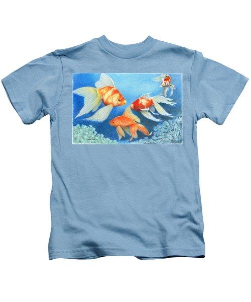 Goldfish Tank Kids T-Shirt
