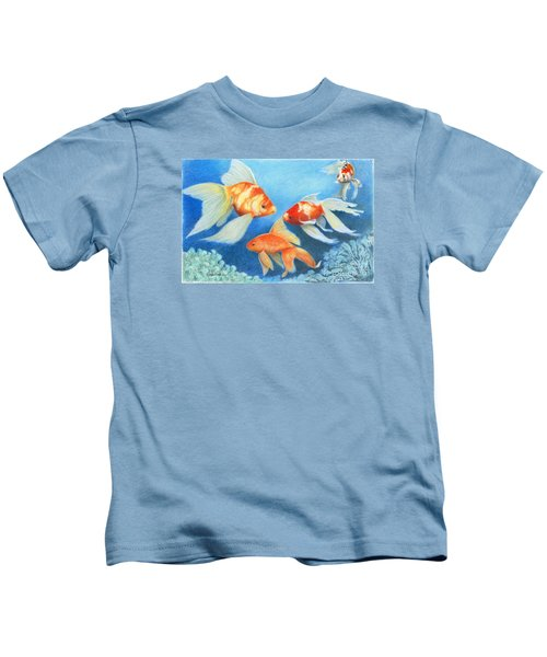 Goldfish Tank Kids T-Shirt