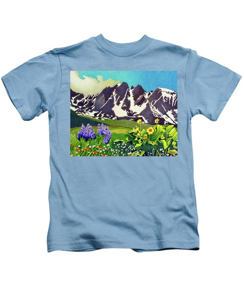 Gore Range Wildflowers Kids T-Shirt