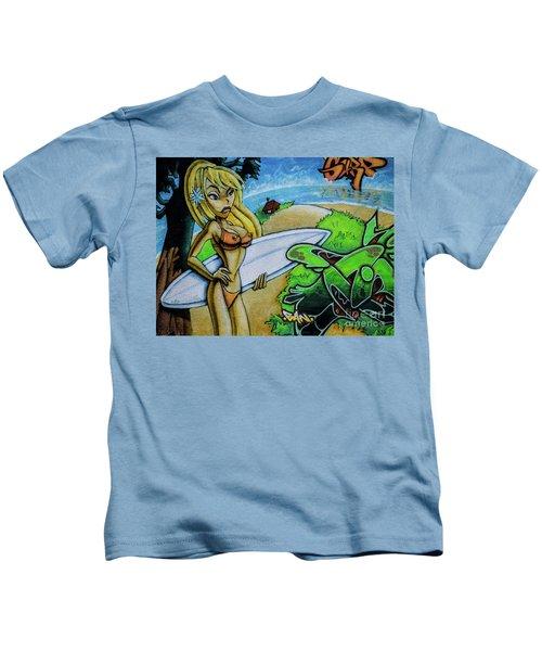 Graffiti-surfgirl Kids T-Shirt