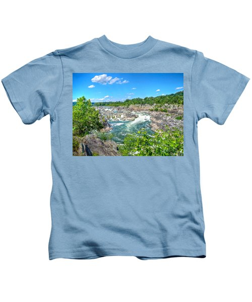 Great Falls On The Potomac Kids T-Shirt
