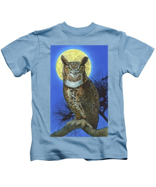 Great Horned Owl 2 Kids T-Shirt