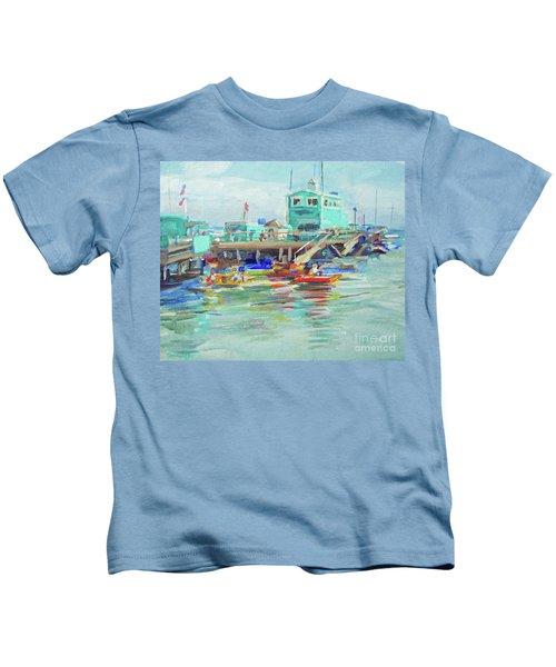 Green Pier On A Summer Da Kids T-Shirt
