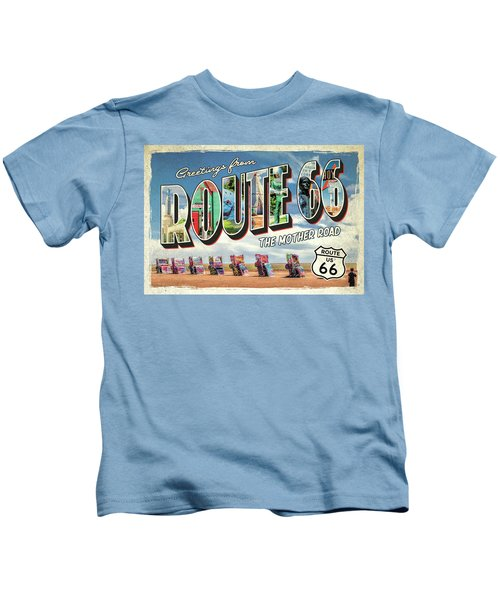 Greetings From Route 66 Kids T-Shirt