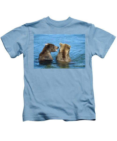 Grizzly Bear Talk Kids T-Shirt