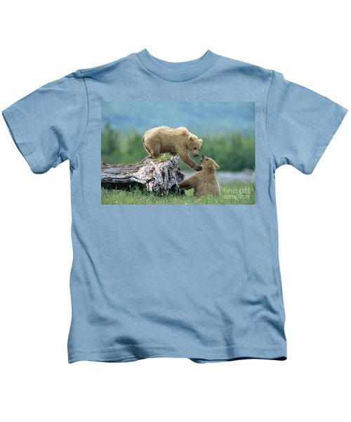 Grizzly Sisters Playing Kids T-Shirt