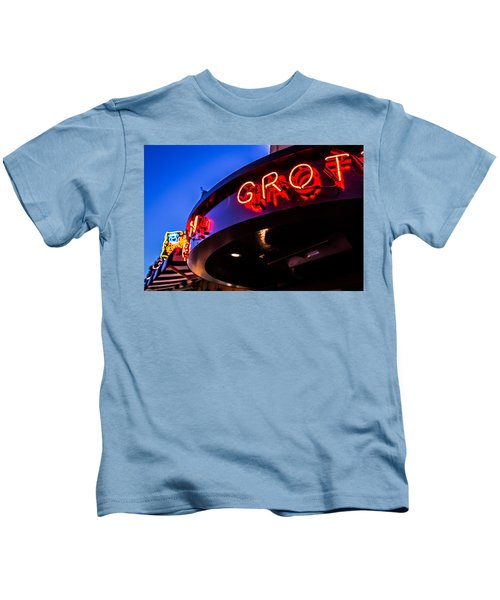 Grotto - Night View Kids T-Shirt