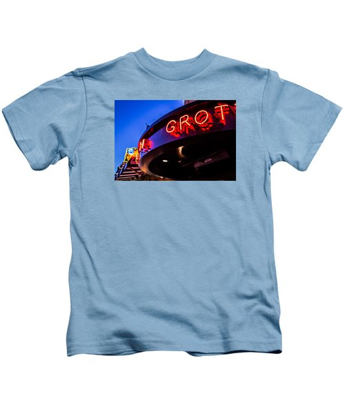 Grotto - Night View Kids T-Shirt