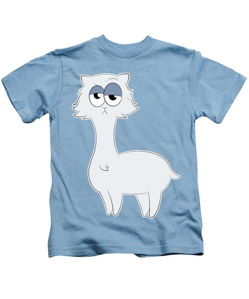 Grumpy Persian Cat Llama Kids T-Shirt