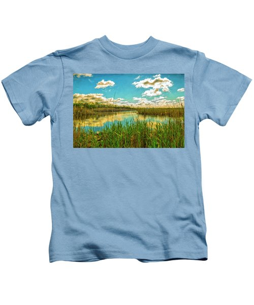 Gunnel Oval By Paint Kids T-Shirt
