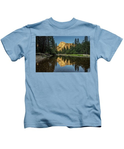 Half Dome From  The Merced Kids T-Shirt by Peter Tellone