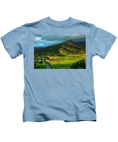 Hanalei Valley Taro Fields Kids T-Shirt