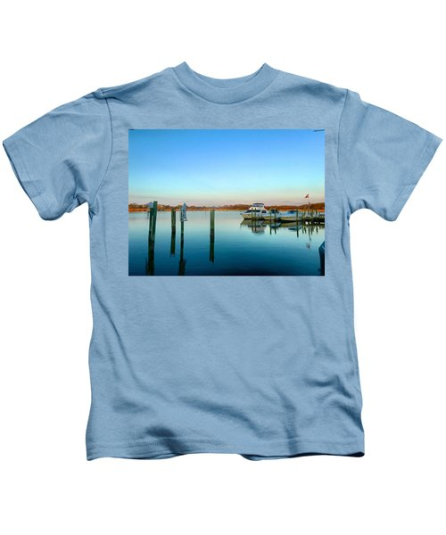 Kids T-Shirt featuring the photograph Hard Yacht Cafe by Chris Montcalmo
