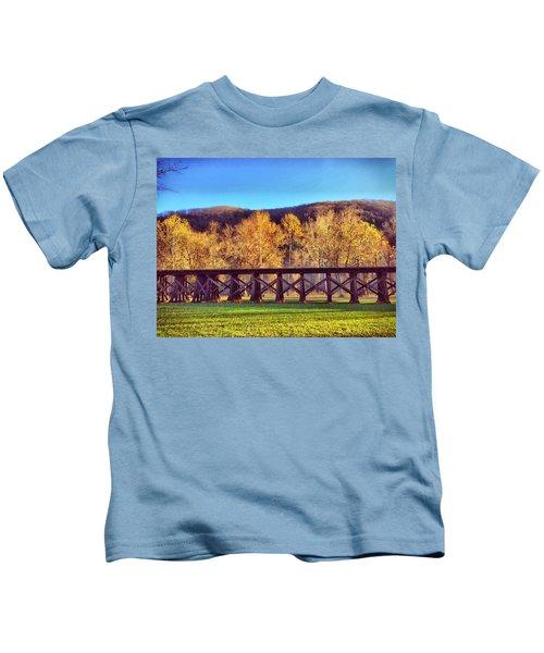 Harpers Ferry Train Tracks Kids T-Shirt