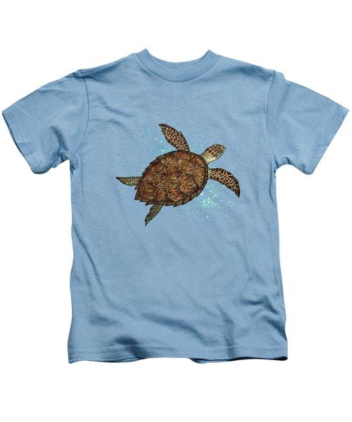 Hawksbill Sea Turtle Kids T-Shirt by Amber Marine