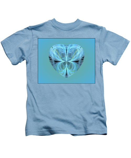 Heart - Ghost Blue Kids T-Shirt