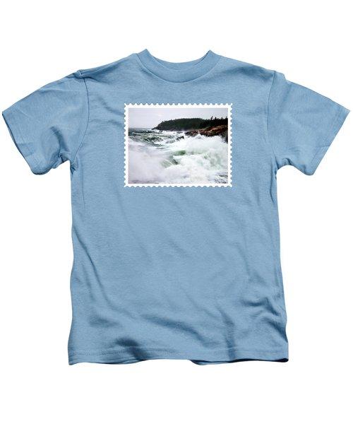Heavy Seas At Acadia National Park Maine Kids T-Shirt