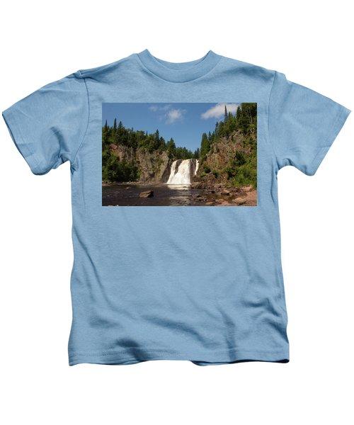 High Falls At Tettegouche State Park Kids T-Shirt