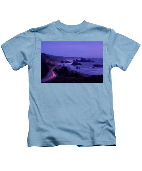 Highway Along The Coast, Us Route 101 Kids T-Shirt