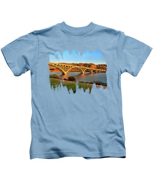 Historic Patterson Bridge Gold Beach Kids T-Shirt by Thom Zehrfeld