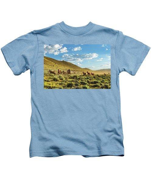 Horses And More Horses Kids T-Shirt