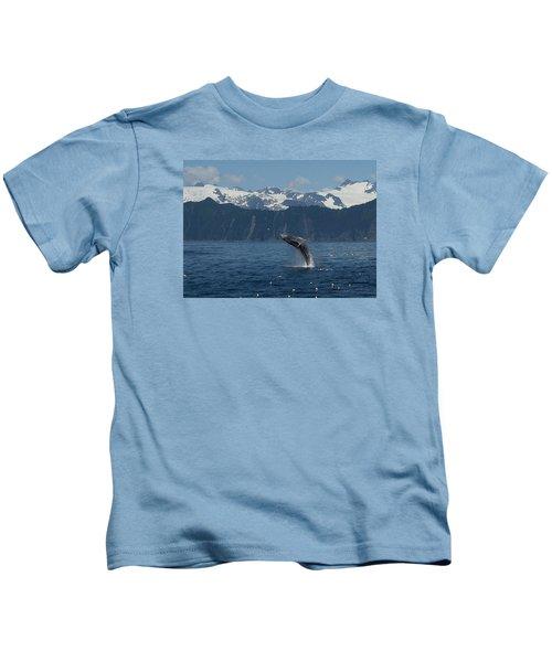 Humback Whale Full Breach Kids T-Shirt