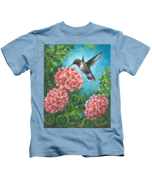 Hummingbird Heaven Kids T-Shirt