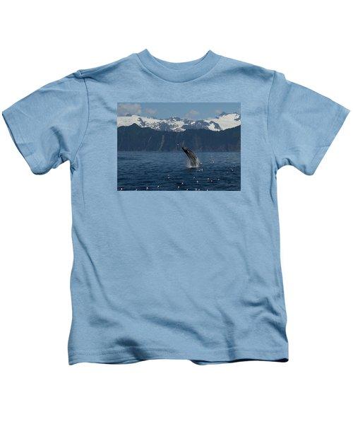 Humpback Whale Breach Seward Kids T-Shirt